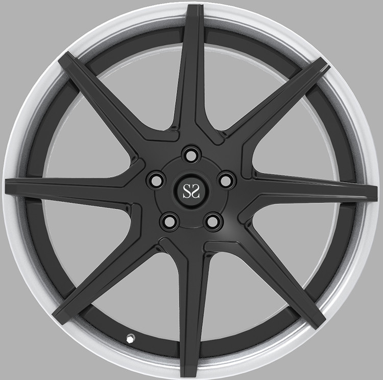 Brush + Gloss Black 22 Inch 2-piece Forged wheels For Cadillac Escalade Car Rims